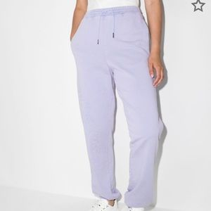Daily Paper Logo Embroidered Track Pants Lilac